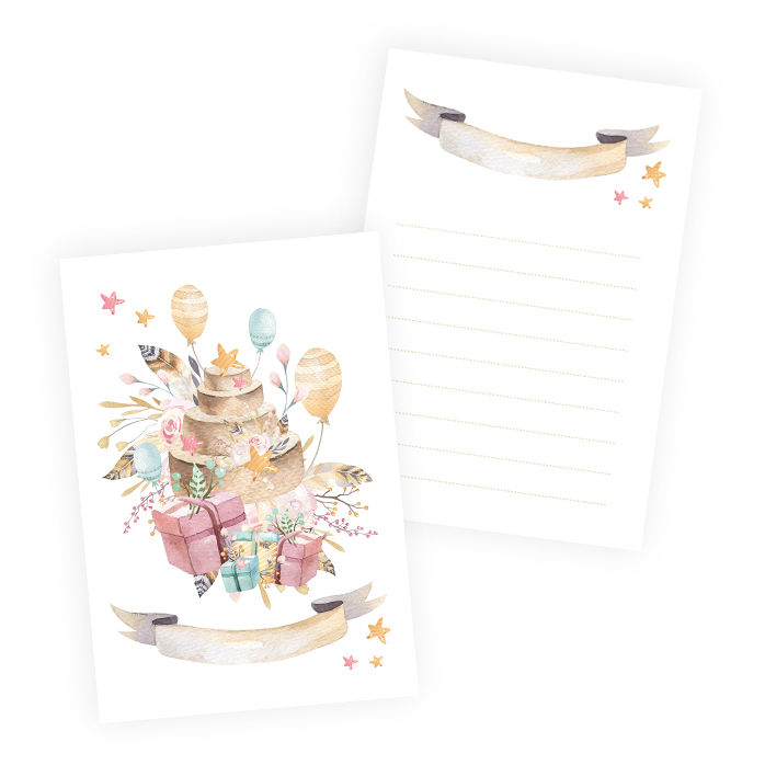 Set of cards Cute & Co. Girl