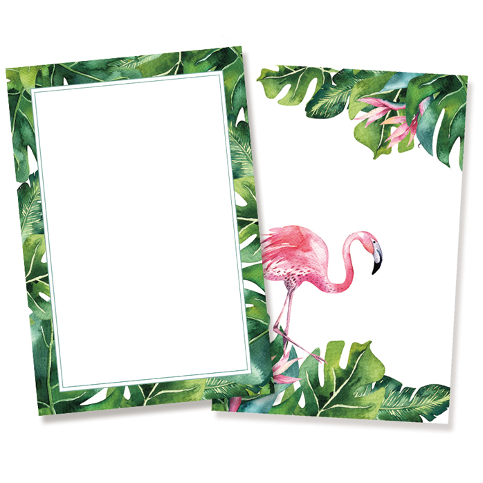 Set of cards Let's flamingle