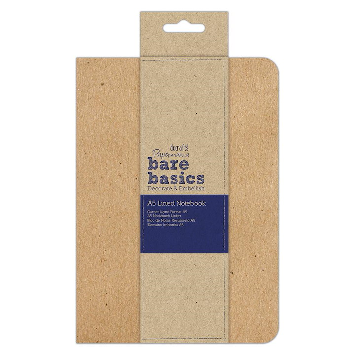 KRAFT COVER LINED NOTEBOOK (A5)