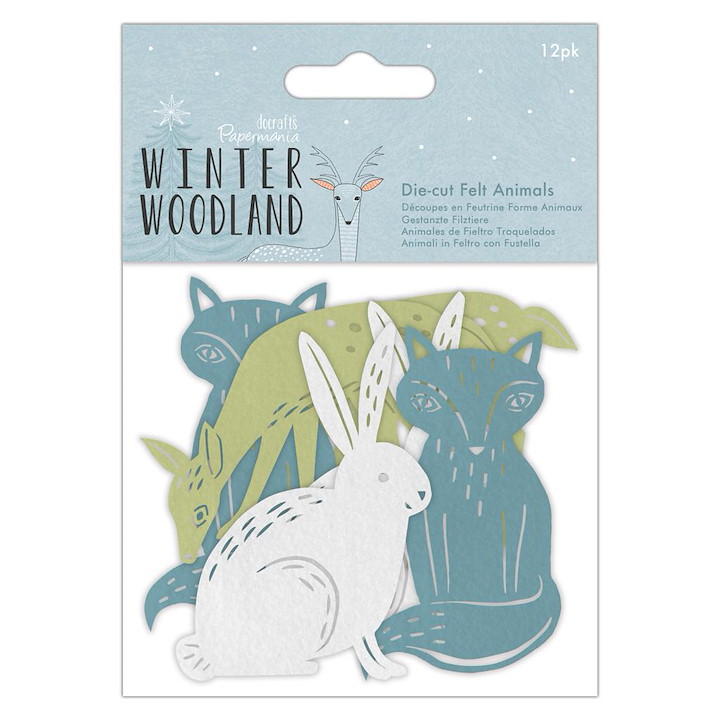 Die-cut Felt Animals (12pk) - Winter Woodland