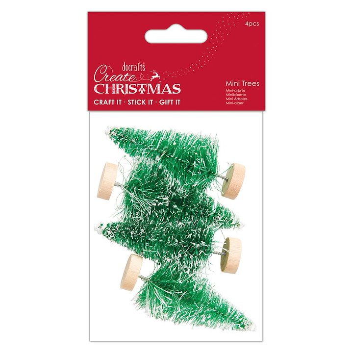 Create Christmas-Snow Tipped Mini Trees
